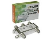 DVS-S104. Делитель спутникового сигнала, 5-2400 МГц, 4-way