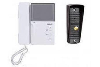 Цветной видеодомофон с вызывной панелью KW-4HPTNC + KW-139MCS-D/N