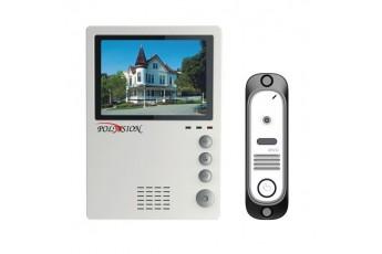 Комплект цветной видеодомофон с вызывной панелью Polyvision PVD-405C + PVD-104M2-WL