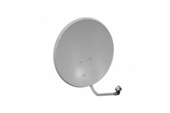 Антенна спутниковая СТВ-0,6ДФ-1,2 0,55 СКН 605 с кронштейном NEW облегченная