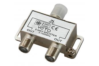 Делитель ТВ х2, под F-разъем 5-1000 МГц, PROCONNECT