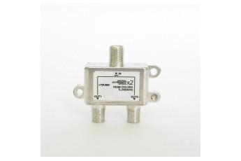 DVS-S102. Делитель спутникового сигнала, 5-2400 МГц, 2-way