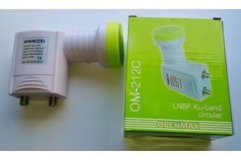Openmax OM-212C, LNBF Ku-bang, круговая, 2 выхода